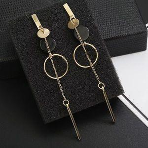 Gold Tone Long Earrings